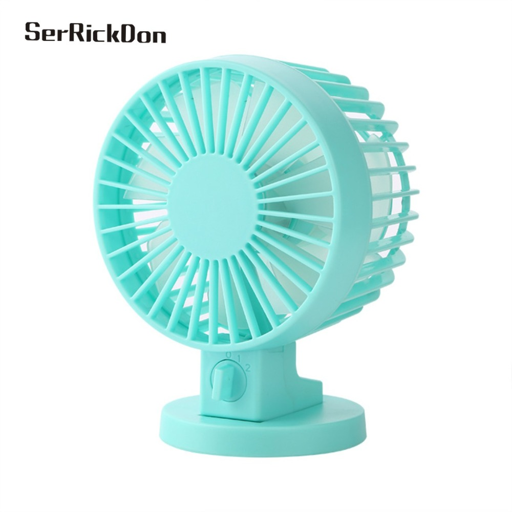 Electric Desktop Computer Fan With Double Side Fan Blades Portable Creative Double-vane Mini USB Desk Fan For Home Office ABS management information systems