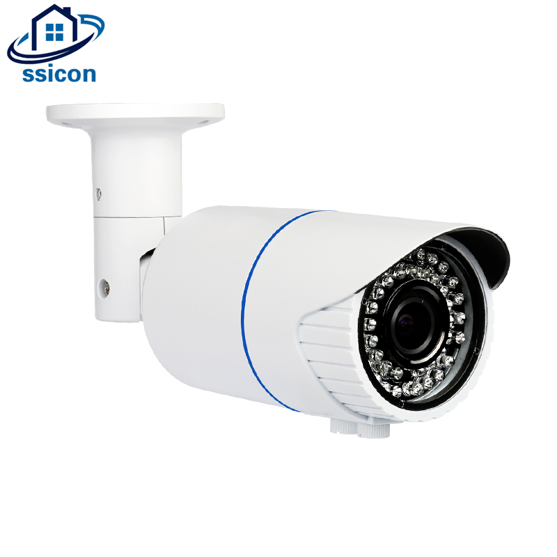 SSICON H.265 2MP 4MP варифокальный ручной зум пуля POE IP Камера 2,8-12 мм объектив ИК 40 м инфракрасный ночное Видение безопасности Открытый Cam