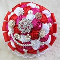 Роскошный Свадебный Букет Свадебный Букет Buque Noiva Букет де Mariage Атласная 2016 Свадебные Цветы Свадебные Букеты Bruidsboeket