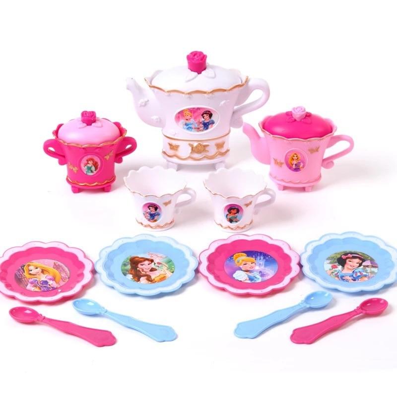 2018 new Disney Princess tea set children play toy simulation series plastic toy girl birthday gifts creative simulation antelope head toy plastic