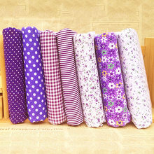 7pcs/set New DIY Floral Series Twill Cotton Fabric,Patchwork Cloth Sewing Quilting Fat Quarters Material For Baby&Child(China)