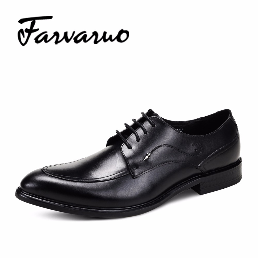 Men's Fashion Dress Formal Flats Oxfords Shoes for Men Genuine Leather Shoes 2017 Flat Business Luxury Brand Pointed Toe Derbies grimentin fashion luxury brand mens dress shoes genuine leather pointed toe formal men shoe basic flats for wedding business