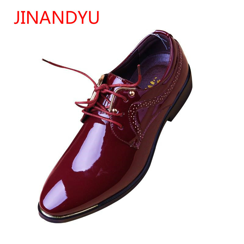 Classic Business Office Formal Leather Shoes Men Pointed Toe Dress Shoes  Metal Mens Elegant Party Wedding 74a60b68fd96