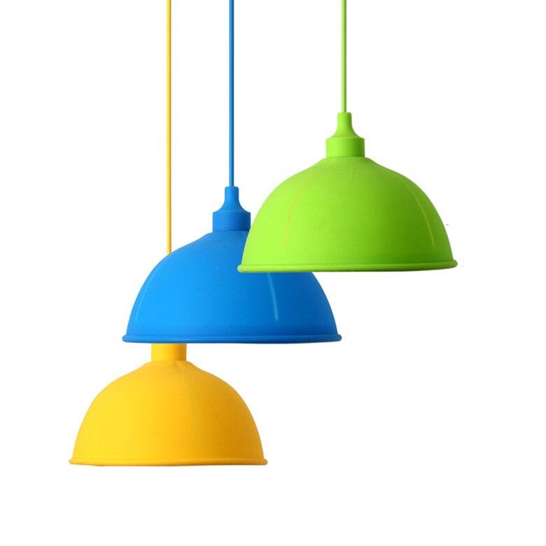 Цвет ful Цвет силиконовые магазин ресторан-бар Детская одежда магазине Потолочная люстра подвесной светильник шар света Освещение