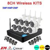 5mp/4mp/2mp шесть массив инфракрасный ICsee приложение Водонепроницаемый H.265 + 25fps 8CH 8 канала аудио WI-FI Беспроводной набор IP камер Бесплатная достав...