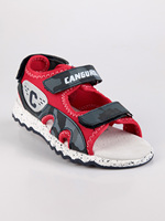 KANGAROO red sandals with tear