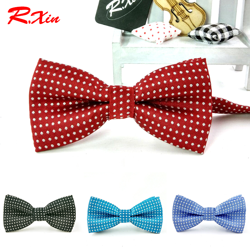 Children New Fashion Formal Cotton Kid Classical Bowties Butterfly Wedding Party Pet Bowtie Tuxedo Ties Polka Dot Boys Bow Tie