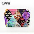 FORUDESIGNS 2016 Fashion  Makeup Bag Women  Vintage Print Cosmetic Cases Box Lady Cosmetic Pouch Travel Bag Toiletries