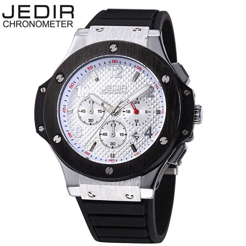 ФОТО JEDIR Casual Men's Mult-function Sport Watch Silicone Watch Top Brand Military Watch Relogio Masculino Gift Box Free Ship