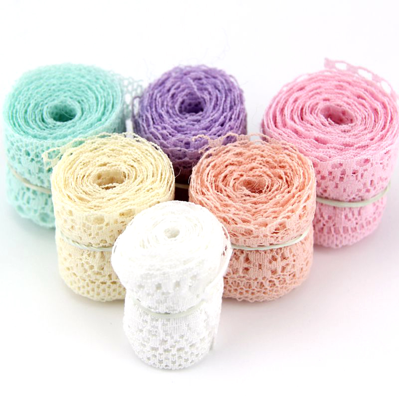 10Yard/Lot 6 Colors New Selling High Quality Lace Ribbon Width 35MM DIY Embroidered Net Lace Trim Fabric For Sewing Decoration