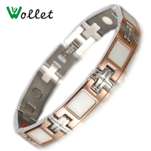 hot new 2014 fashion  germanium 4 in 1 magnetic abalone shell stainless steel rose gold jewelry недорого