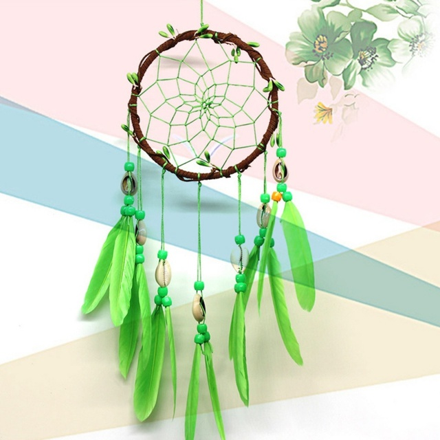 Green Shell Dream Catcher