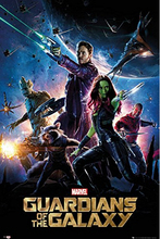 Guardians Of The Galaxy Retro Poster, Home Decor Wall Sticker 20x30inches Free Shipping J115