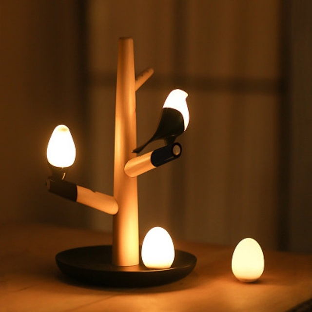 Smart bird LED atmospheere nightlight intrared and touch sensitive ...