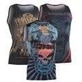 Лето Новая Мода мужская Сжатия Без Рукавов Рубашки Фитнес Тонкий Мужчины Майка Хлопок Дизайн 3D Печати Жилет