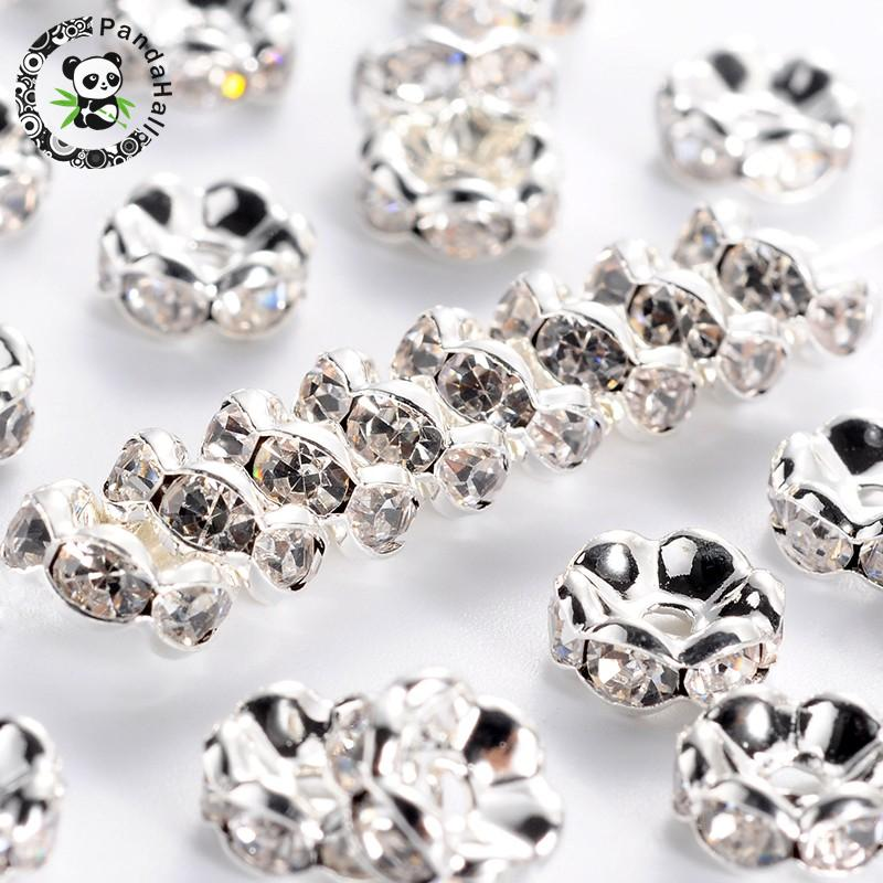 1000PCS 8mm For Rhinestones Rondelle Spacer Beads  Crystal Grade AAA+W