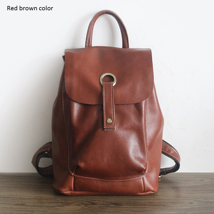 Fashion Backpack Women Backpacks Real Genuine Leather School Bag For Girls Travel Bag Female High Quality Daily Daypacks #PD2109 fashion backpack women backpacks leather school bags for teenagers girls female travel shoulder bag high quality daily daypacks