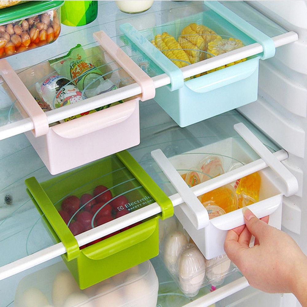 Image 2 - New Square Refrigerator Storage Box Fresh Spacer Layer Storage Rack Drawer Sort Kitchen Accessories Hanging Organizer-in Storage Boxes & Bins from Home & Garden