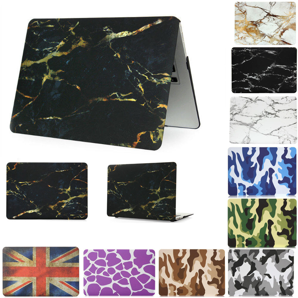 Marble Texture US UK Flagsp protective case for Mac book/laptop case protective shell for macbook pro retina air 11/13/15