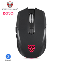Motospeed BG50 Game Gaming For Laptop PC Computer USB Wired Bluetooth Wireless Mouse Gamer Mause With Backlight RGB Rechargeable
