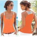 Patchwork Sequins Square neck sleeveless tank vest summer vetement femme jersey mujer beach sun Tops