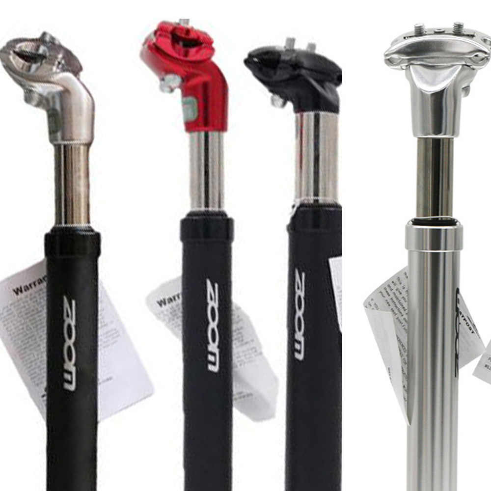 HONG111 30.9 x 300 mm Shock-Absorbing Seatpost Alloy Seatpost 1.21inchx11.81inch Bike Bicycle Alluminium Alloy Seat Post with Micro Adjust Clamp Silver