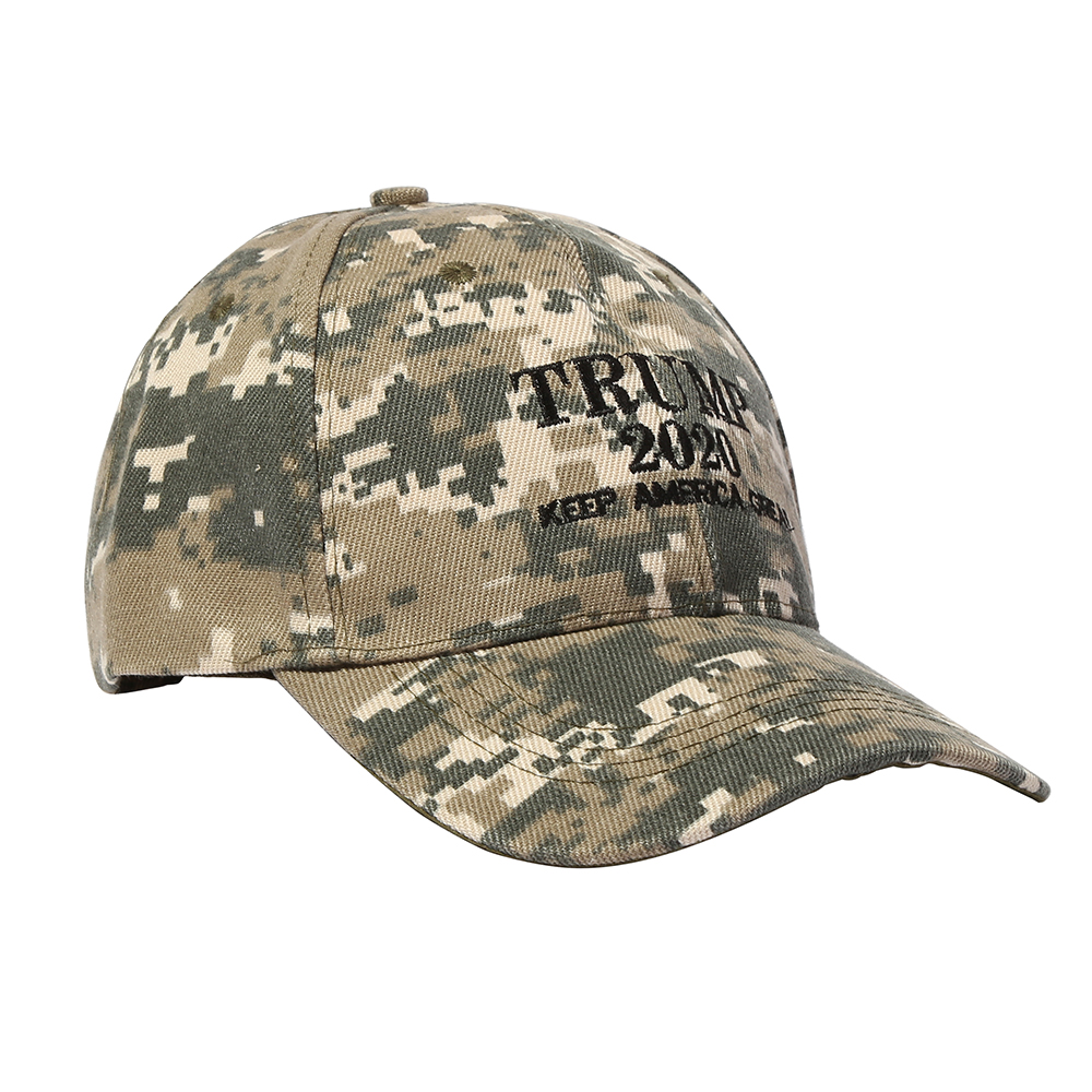[SMOLDER]Make America Great Again Embroidery USA Flag 2020 Donald Trump Hat Re-Election Cotton Baseball cap Outdoor Camouflage 4