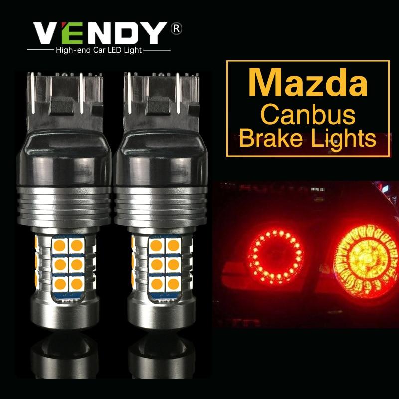 Bright White LED License Plate lights For Mazda CX-5 2013-2014 CX-7 Speed 6 PZ