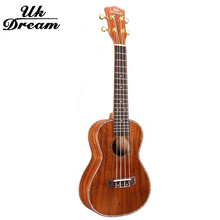 23 inch Samll wooden Guitar Musical Stringed Instrument Closed Knob 4 Strings Guitars 18 Frets Ukulele Full Sapele UC-C8L цена