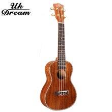 23 inch Samll wooden Guitar Musical Stringed Instrument Closed Knob 4 Strings Guitars 18 Frets Ukulele Full Sapele UC-C8L цена в Москве и Питере