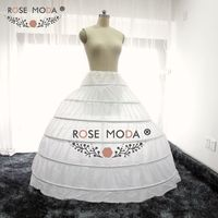 High Quality 6 Hoops Petticoat Underskirt Crinoline for Puffy Wedding Dresses
