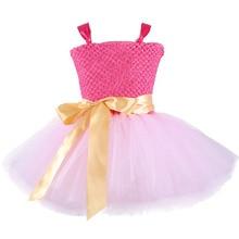 Pink Super Hero Costumes for Kids Superman Summer Dress for Children Flower Girls Dress Party Knee Length Christmas Tutu Dress цены