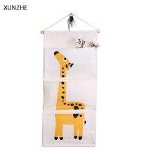 XUNZHE 1 шт животное из мультфильма сумка для хранения 3 Карманы ювелирные изделия Костюмы органайзер для устройств Главная стены Дверь Шкаф висит сумка