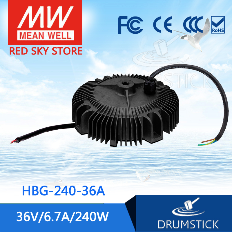 Selling Hot MEAN WELL HBG-240-36A 36V 6.7A meanwell HBG-240 36V 240W Single Output LED Driver Power Supply [ba]mean well original hbg 240 48a 1pcs 48v 5a meanwell hbg 240 48v 240w single output led driver power supply
