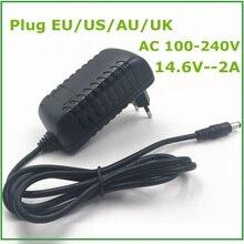 14.6V Thông Minh Sạc Thông Minh 2A Cho 4S 12.8V LiFePO4 Bộ Pin EU/Mỹ/AU/phích Cắm UK