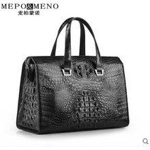 maibomengnuo crocodile Men's handbag business notebook lbag leisure British travel bag European and American luxury luggage