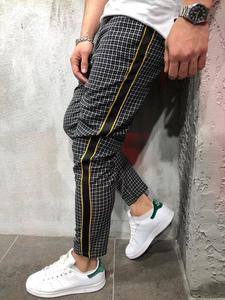 Image 5 - Newest Fashion Wear Take Cotton Blend Men Striped Long Casual Men Pants Slim Fit Skinny Urban Trousers Joggers Sweatpants