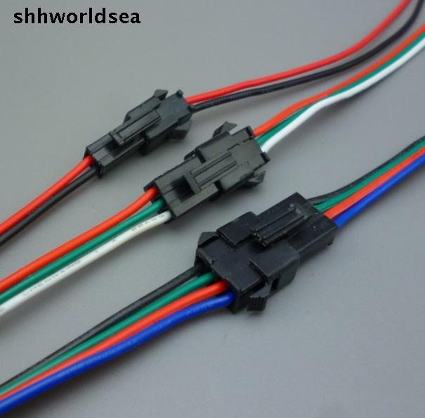 shhworldsea 30pairs 2 3 4 pin jst Connector 2 x 10cm 2pin Male ...