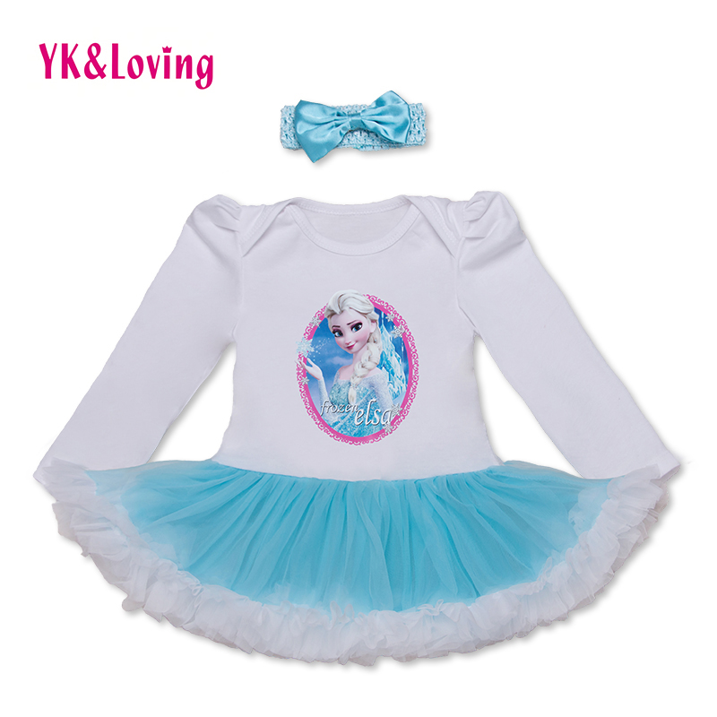 2d35cc5692241 Baby Ruffles Bodysuit Tutu Dress 2 Pieces Jumpsuit Infant Birthday ...