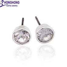 Honghong2018 серьги гвоздики с кристаллами круглые простые индивидуальные