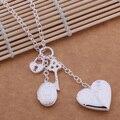 Высокое качество серебряное сердце замок кулон ожерелье очарование классический ювелирный завод оптовые цены AN512