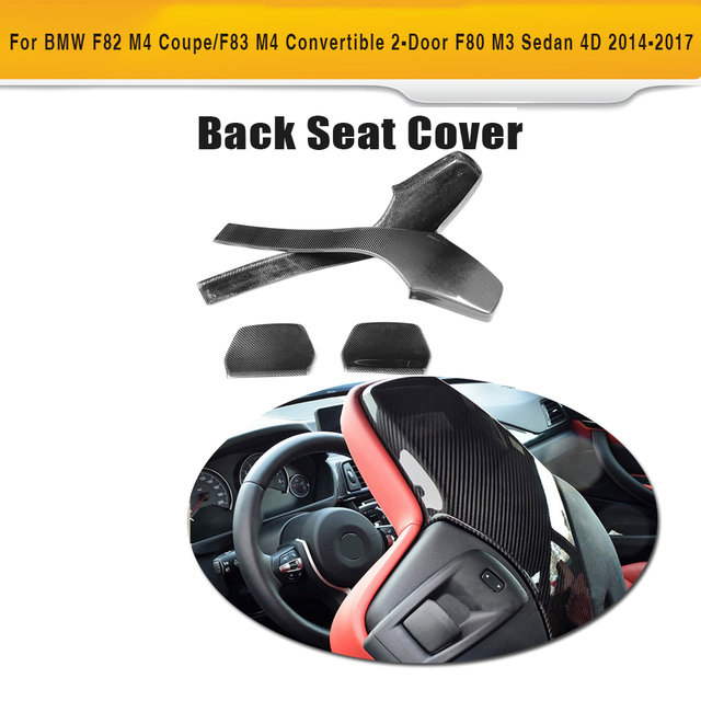 Carbon Fiber Car Inner Seat back Trim Covers for BMW F80 M3 F82 F83 M4 Sedan Convertible 2014-2017