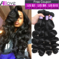 Top Brazilian Virgin Hair Loose Wave 3 Bundles 8A Unprocessed Virgin Human Hair Brazilian Loose Wave Virgin Hair Wavy Bundles