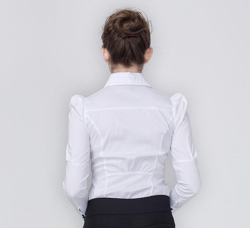 bleu Professionnel D'affaires Boucle Longueur Printemps Banlieue Chemise blanc Royal Longues Blanche Manches Rouge Nouveau Type 2018 dWqn6y4Aq