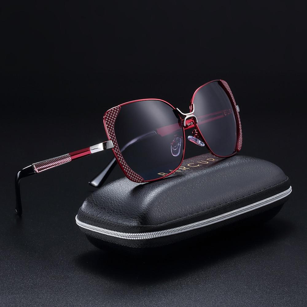 BARCUR Weibliche Sonnenbrille Frauen Markendesigner Polarisierte Sonnenbrille Sommer HD Polaroid Objektiv Sonnenbrille für Frauen Shades