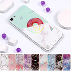 For iPod Touch 5 6 Case Coque Touch5 Touch6 Soft TPU Marble Stone Painted Phone Cover For Apple iPod Touch 5 6 6th Generation