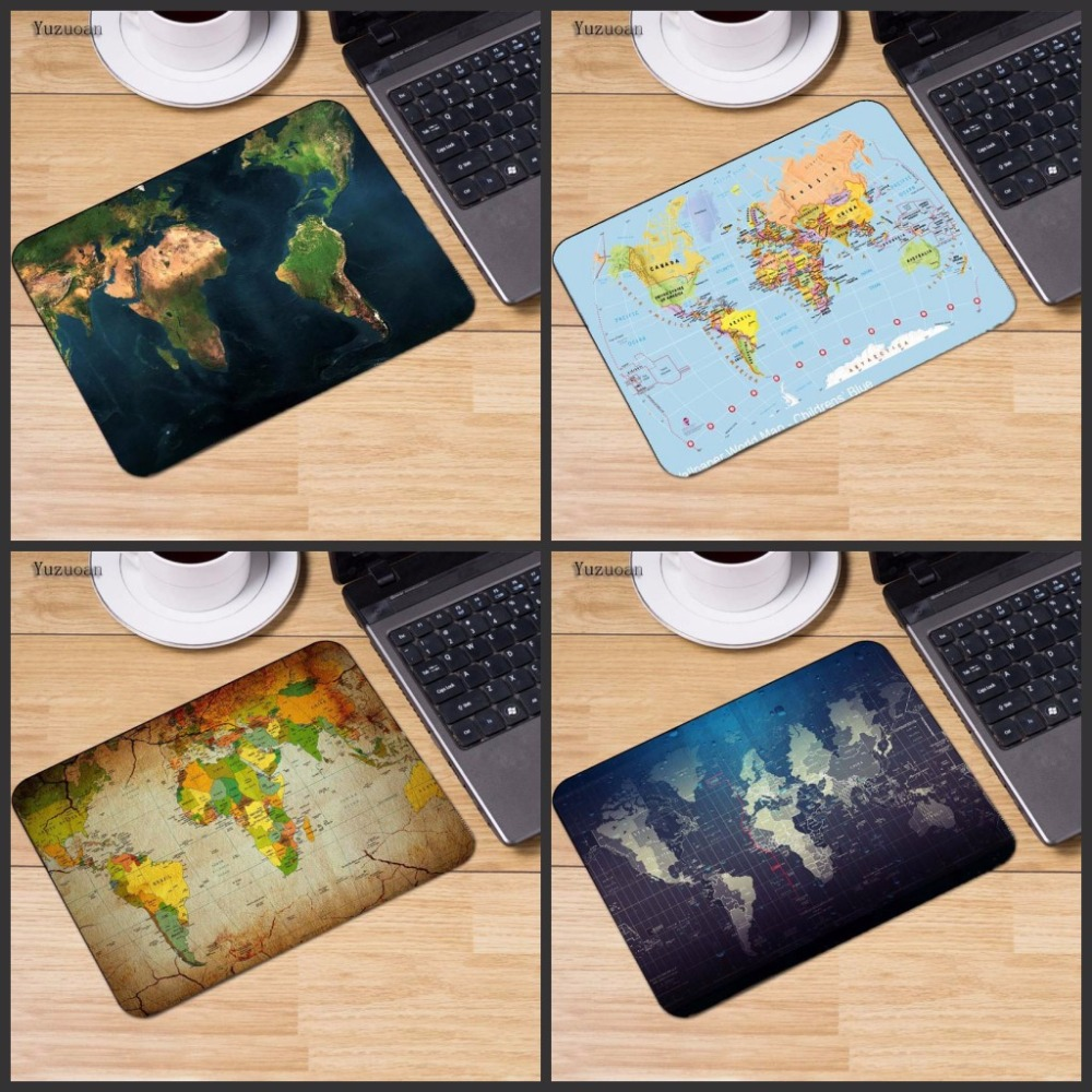 все цены на Yuzuoan Fashion Old World Map Mouse Pad Small Pad for Mouse Notbook Computer Mousepad Gaming Mouse Mats for Mouse Game 18*22cm онлайн