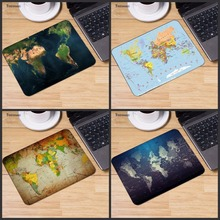Yuzuoan Fashion Old World Map Mouse Pad Small Pad for Mouse Notbook Computer Mousepad Gaming Mouse Mats for Mouse Game 18*22cm