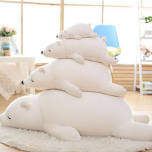 Kawaii Big Polar Bear Plush Toy Soft Foam Particles Papa Bear Simulation Large Kids Cloth Doll Pillow Birthday Gift For Children стоимость