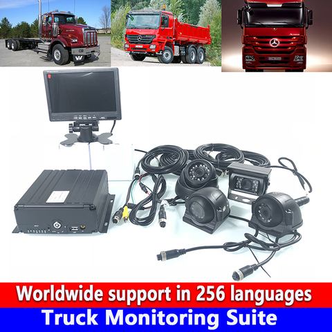 reproducao de video local caminhao suite monitoramento ahd 720 p alta limpar 4 host de